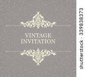 vintage invitation card...   Shutterstock .eps vector #339838373