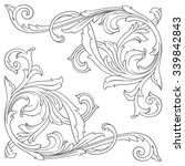 vintage baroque frame scroll... | Shutterstock .eps vector #339842843