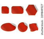 different red stickers set... | Shutterstock . vector #339849527