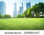 park in lujiazui financial... | Shutterstock . vector #339854147