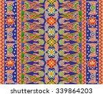 seamless floral beautiful batik ... | Shutterstock .eps vector #339864203