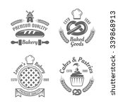 bakery and pastries vector... | Shutterstock .eps vector #339868913