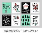 merry christmas and happy new... | Shutterstock .eps vector #339869117