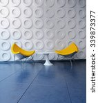 Two Contemporary Yellow Chairs...