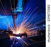 robot welding movement... | Shutterstock . vector #339873383