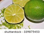 lime citrus fruit with aromatic ... | Shutterstock . vector #339875453