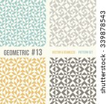 Set Of Four Geometric Patterns...