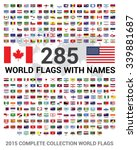 vector set of 285 world flags... | Shutterstock .eps vector #339881687