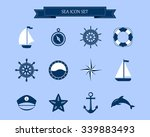 vector of nautical and marine... | Shutterstock .eps vector #339883493