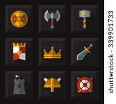 game weapon icons flat set.... | Shutterstock .eps vector #339901733