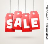 hanging price tags. vector sale ... | Shutterstock .eps vector #339902567