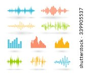 color sound waves. music... | Shutterstock .eps vector #339905537