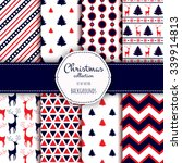 collection of seamless patterns.... | Shutterstock .eps vector #339914813