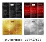 set of vector three fold... | Shutterstock .eps vector #339917633