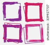 splash frame  banner. ink...   Shutterstock .eps vector #339927737