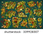 colorful vector hand drawn...   Shutterstock .eps vector #339928307