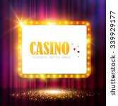 shining casino party banner.... | Shutterstock .eps vector #339929177