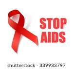 stop aids   vector background... | Shutterstock .eps vector #339933797
