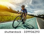 Woman Cycling Outdoor Exercise...