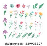 cute vector elegant flowers.... | Shutterstock .eps vector #339938927