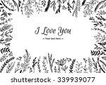 hand drawn vector vintage... | Shutterstock .eps vector #339939077