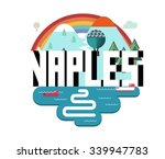 naples cityi in italy is a... | Shutterstock .eps vector #339947783