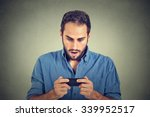 closeup portrait anxious young... | Shutterstock . vector #339952517