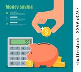money saving concept. vector... | Shutterstock .eps vector #339953267