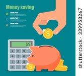 Money Saving Concept. Vector...