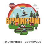 birmingham city is a beautiful... | Shutterstock .eps vector #339959303