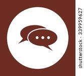 chat  messages. flat design... | Shutterstock .eps vector #339959627