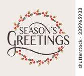 hand sketched seasons greetings