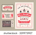 christmas four sides poster or... | Shutterstock .eps vector #339973907
