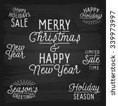 hand drawn lettering slogans... | Shutterstock .eps vector #339973997