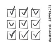set of nine vector hand drawn... | Shutterstock .eps vector #339986273