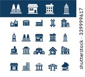 buildings  houses  icons  signs ... | Shutterstock .eps vector #339999617