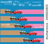 color icons of car crash and... | Shutterstock .eps vector #340002803