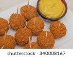 dutch snack bitterballen with... | Shutterstock . vector #340008167