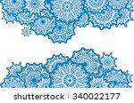 horizontal border of white... | Shutterstock .eps vector #340022177