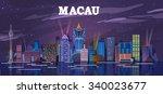 macau  china skyline at the... | Shutterstock .eps vector #340023677