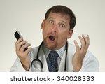 doctor in shock from news he... | Shutterstock . vector #340028333