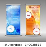 roll up banner abstract