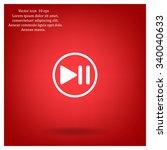 pause button vector icon   Shutterstock .eps vector #340040633