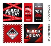 templates for black friday sale.... | Shutterstock .eps vector #340044203