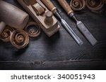 Shaving Plane Wooden Shavings...