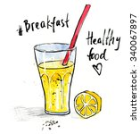 watercolour illustration of... | Shutterstock . vector #340067897