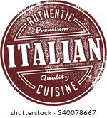 authentic italian restaurant... | Shutterstock .eps vector #340078667
