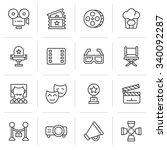 cinema icons. | Shutterstock .eps vector #340092287