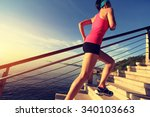 healthy lifestyle sports woman... | Shutterstock . vector #340103663