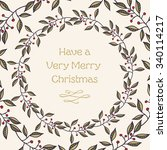 merry christmas vintage style... | Shutterstock .eps vector #340114217